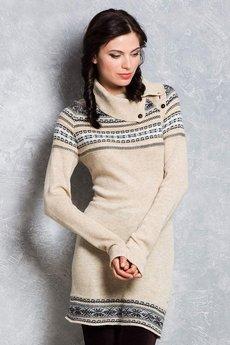Вязаное платье свитер VIAGGIO